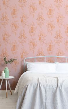 """We asked our store visitors in a survey, """"What type of style, theme, aesthetic, or mood are you trying to achieve in your home?"""" Below, 13 people tell us what their Dream Bedroom would look like – letting us in on their decor tastes, wallpaper choices, and how they want their bedroom to make them feel. We've brought their answers to life – creating their ideal bedroom spaces using some simple styling ideas that are easy to recreate. Read on to grab some great bedroom inspiration… Floral Pattern Wallpaper, Bright Wallpaper, Peaceful Bedroom, Dream Bedroom, Cool Wallpapers Designs, Wallpaper Design For Bedroom, Japanese Bedroom, Tropical Bedrooms, Art Deco Bedroom"""