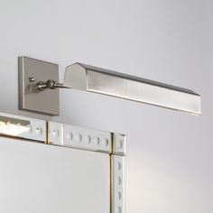 "14"" Hip Roof Shade Bath Light. Clean look in bath light. Comes in satin nickel, matte gold or dark bronze"