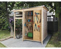 Armoire de jardin weka Garten Q, cm, nature Backyard Office, Backyard Sheds, Backyard Patio, Bike Storage, Outdoor Storage, Garden Projects, Garden Tools, Garden Structures, Outdoor Structures