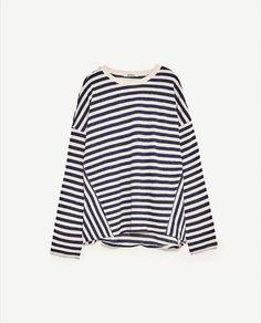 Image 8 of STRIPED SOFT SWEATSHIRT from Zara