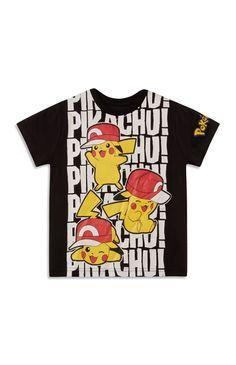 T-shirt met Pikachu-print