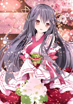 Anime Kawaii Girl /^ω^\ - Anime Kimono 2 - Wattpad Anime Neko, Manga Anime, Anime Kimono, Kimono Animé, Fan Art Anime, Anime Artwork, Anime Art Girl, Anime Girls, Loli Kawaii