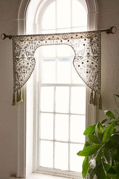 Magical Thinking Embroidered Window Valance - Urban Outfitters