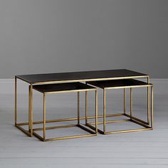 Buy Content by Terence Conran Coffee Black Enamel Table and 2 Side Tables Online at johnlewis.com