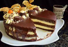 tort-cu-glazura-oglinda-si-crema-de-vanilie-7 Dessert Recipes, Desserts, Tiramisu, Easy Meals, Food And Drink, Pudding, Cookies, Ethnic Recipes, Deserts