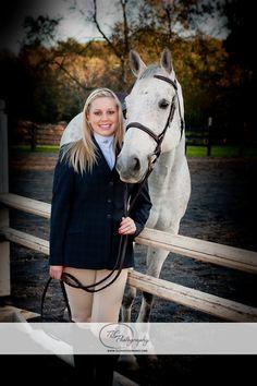 Hannah and her horse.  Senior portrait.