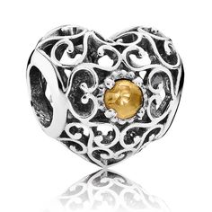 The month of November is represented by citrine. The sunny gemstone is said to bring cheerfulness, success and wealth.
