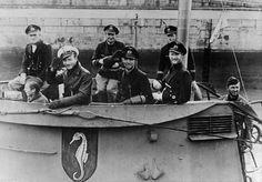 U-97 under command of Kptlt. U. Heilmann (white cap), May 1941.