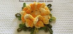 Rosa colombiana passo a passo