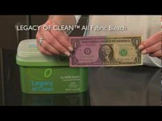 Amway Legacy of Clean Concentrated All Fabric Bleach-Demo Our exclusive LEGACY OF CLEAN™ laundry and cleaning products are created to handle even the messiest jobs with natural, biodegradable cleaning ingredients. Get them exclusively at www.amway.com/healthyfortune