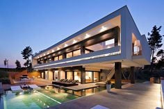 La Vinya is a massive residence designed by studioLagula Arquitectes and located in Caldes de Malavella, Spain.