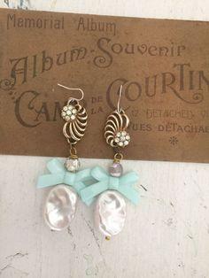 plumpupcycled earrings dangle earrings repurposed jewelry by Arey