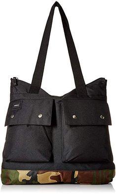 RVCA Young Men's VETERAN TOTE BAG Accessory, -camo, EA Mens Tote Bag, Travel Tote, Bag Accessories, Gym Bag, Fashion Brands, Camo, Young Men, Handbags, Stuff To Buy