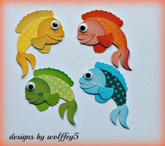 1000 ideas about paper fish on pinterest 3d origami for Fish die cuts