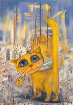 Yellow Cat (by Boris Kasyanov) ♥♥♥ Gato Amarelo (by Boris Kasyanov)