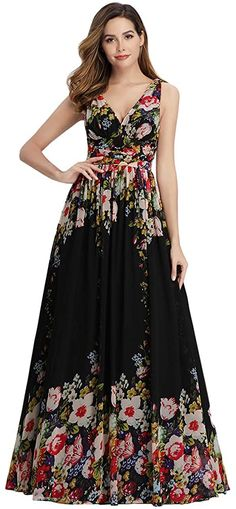 Floral Bridesmaid Dresses, Floral Maxi Dress, Ever Pretty Dresses, Nice Dresses, Women's Evening Dresses, Summer Dresses, Party Dresses, Summer Maxi, Maxi Dresses