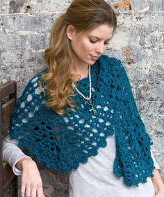 Free Crochet Graceful Shell Shawl Pattern