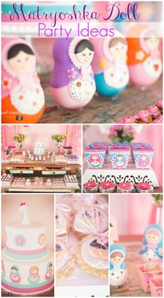 Matryoshka doll girl birthday party ideas! See more party ideas at CatchMyParty.com. #matryoshka