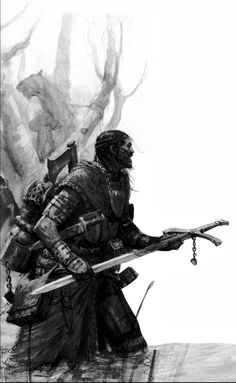 A warrior trudging through the swamp. #rpg #fantasy #fighter #d&d #dnd