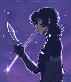 My Galra Side- Keith in his Galra armor and his knife blade in Blade of Marmora from Voltron Legendary Defender