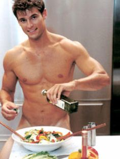 Sexy male cook