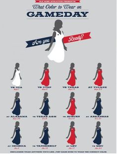 Are you ready?  Ole Miss game day dress code!