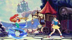 DISNEY vs CAPCOM?! Fan art turns Disney Princesses into fearsome pixel fighters