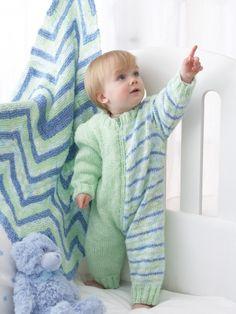 Playday Romper | Yarn | Free Knitting Patterns | Crochet Patterns | Yarnspirations
