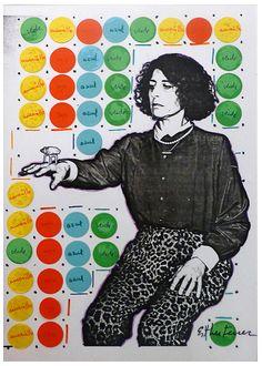 ESTHER FERRER Elle ètait lá, 1984 Photocopy, collage 10 1/5 × 7 1/10 in