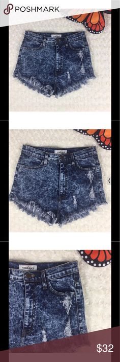 VIBRANT Womens High Waisted Rise Distressed Shorts VIBRANT MIU Women's High Waisted Cutoff Rise Distressed Frayed Shorts Sz L Waist 13 Rise 11.5. Show off with these Great VIBRANT MIU High Waist Distressed Shorts. Vibrant MIU Shorts