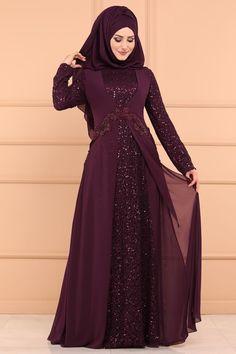 Mürdüm Şifon Detay Pulpayet Abiye şifon ve pulpayet kumaştan imal edilmiş olup iade ve değişim garantisi ile hemen sipariş verebilirsiniz. düğün ve nişan elbisesi olarak özel günlerinizde tesettür abiye lerimizi tercih edebilirsiniz. Hijab Evening Dress, Long Gown Dress, The Dress, Hijab Dress, Abaya Fashion, Muslim Fashion, Fashion Outfits, Stylish Dresses, Modest Dresses