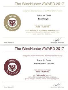 Lo Spirito di Teatro del Gusto inebria anche il Merano WineFestival! Un ringraziamento alla commissione che ha premiato i nostri #Rum #Biologico e #Rum all'Arancia e Zenzero come prodotti di eccellenza e grazie ad una produzione artigianale di alta qualità!  #TeatrodelGusto #MWF2017