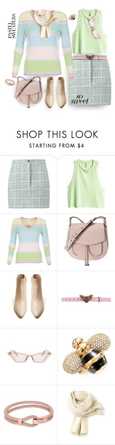 """""""So Sweet: Pastel Sweaters"""" by ysmn-pan ❤ liked on Polyvore featuring Natasha Zinko, H&M, Marc Jacobs, The Row, Gucci, Kate Spade, Michael Kors, Lacoste, contest and pastelsweaters"""