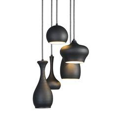 Drops 5 - Hanglamp - 5 lichts - 300 mm - zwart