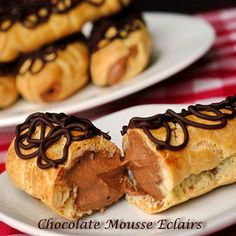 Chocolate Mousse Eclairs