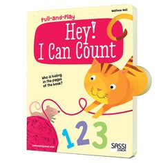 #Sassi Junior: Pull and Play - Hey! I Can Count. A 10-pages book about the numbers. #eco #friendly #book #game