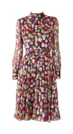 Hardy Amies Metallic Spotted Dress, 1960s