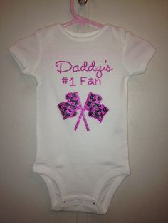 Daddy's 1 fan with checkered flag rhinestone by audrinascloset, $20.00
