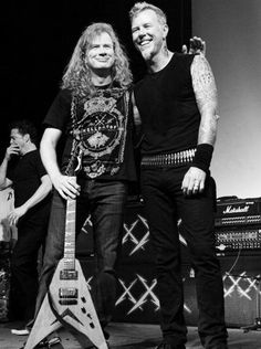 Dave Mustaine and James Hetfield