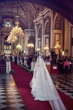 20 Stunning Cathedrals And Chapels In Asia - The Wedding Notebook magazine Church Wedding, Wedding Bells, Filipiniana Wedding, Wedding Notebook, Princess Wedding, Manila, Cathedral, Wedding Photography, Wedding Ideas