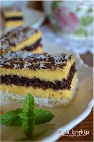 Barbi konyhája: Erdélyi raffaello szelet Baking Recipes, Dessert Recipes, Sweet Desserts, No Bake Cake, Coco, Healthy Snacks, French Toast, Food And Drink, Cookies