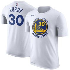 Men s Golden State Warriors Stephen Curry Nike White Name   Number  Performance T-Shirt ff9b48cad3c