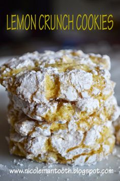 RANDOM RAMBLINGS: LEMON CRUNCH COOKIES : recipe