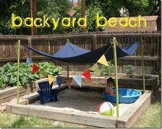 Backyard Beach #summerfun #kidsoutdoor #sandbox