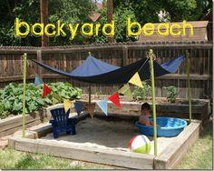 Backyard Beach #summerfun #kidsoutdoor #sandbox