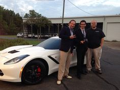 LJ Lobsinger, Jr., Ahmad Bailey from NBC 25, and Andy Rickets discussing the the tuner market and the Livernois custom designed Stingray on the NBC 25 Today Morning Show.