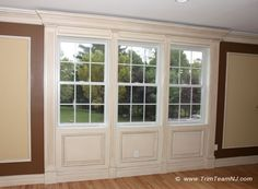 A http://drandreahayeck.com repin. A wonderful dentist in Linden serving many Cranford residentts.    004. Window trims in living room. Scotch Plains, NJ 07076.