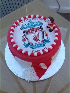 Do a grooms cake as a surprise Football Themed Cakes, Football Birthday Cake, Birthday Cake Flavors, Happy Birthday Cakes, Paul Cakes, Liverpool Cake, Cake For Boyfriend, 21st Cake, Cake Templates