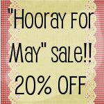 "Check out the ""HoorayForMay"" sale at Two Dog Vintage on Etsy! Simply use coupon code ""HoorayForMay"" for 20% off your entire order - thru May 31st!"