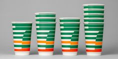 7-Eleven decided to update their coffee concept and emphasize a smart and convenient brand experience. The iconic stripes is the take-off point for BVD's design.